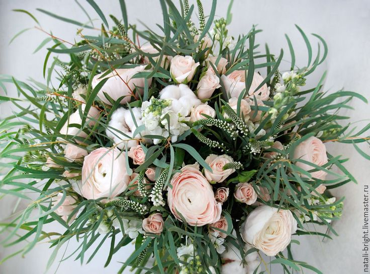 Купить Букет из живых цветов Шелест ветра - букет для невесты, свадебные цветы, цветы для свадьбы