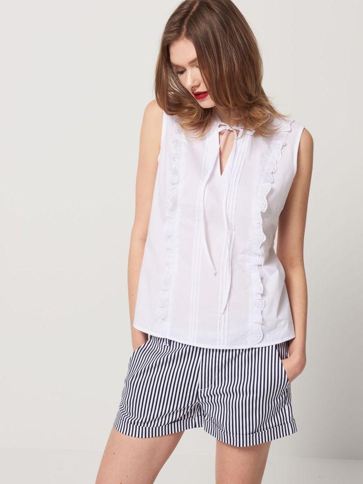 Koszula z pionowymi falbanami, MOHITO, QZ049-00X
