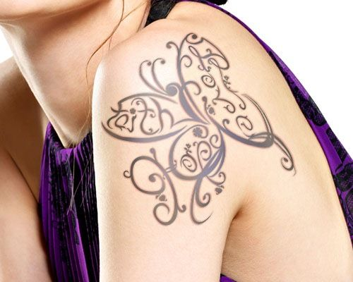 Amazing Faith Love Hope butterfly tattoo