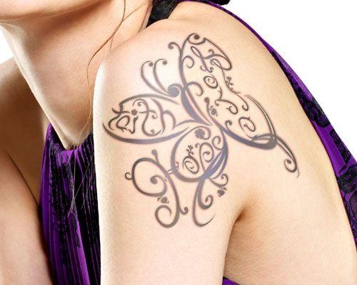 Amazing Faith Love Hope butterfly tattoo