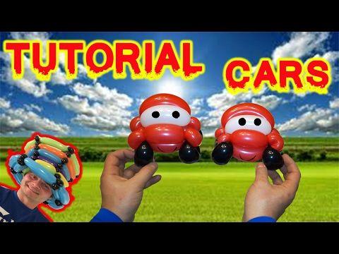 PALLONCINI MODELLABILI tutorial 23  CARS - AUTOMOBILE - YouTube