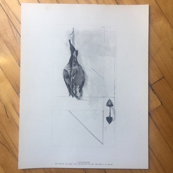 "Andrew Wyeth ""Canvasbacks"" Lithograph from 1962 ""Four Seasons - 12 Lithographs"""