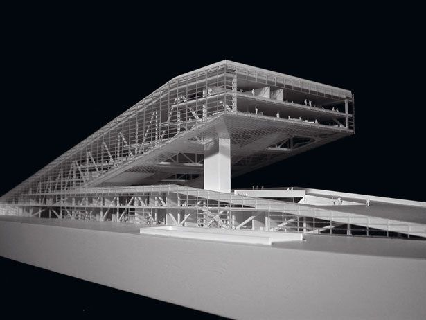 Architectural Model - Learning Center, École Polytechnique Fédérale de Lausanne, Switzerland - Herzog & de Meruron