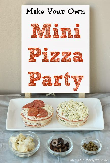 Cool idea for a pre-teen sleepover or slumber party. Don't have a pizza delivered, let the girls chop up their own toppings ( with supervision depending on age), lay out crusts and various cheeses. Creativity!