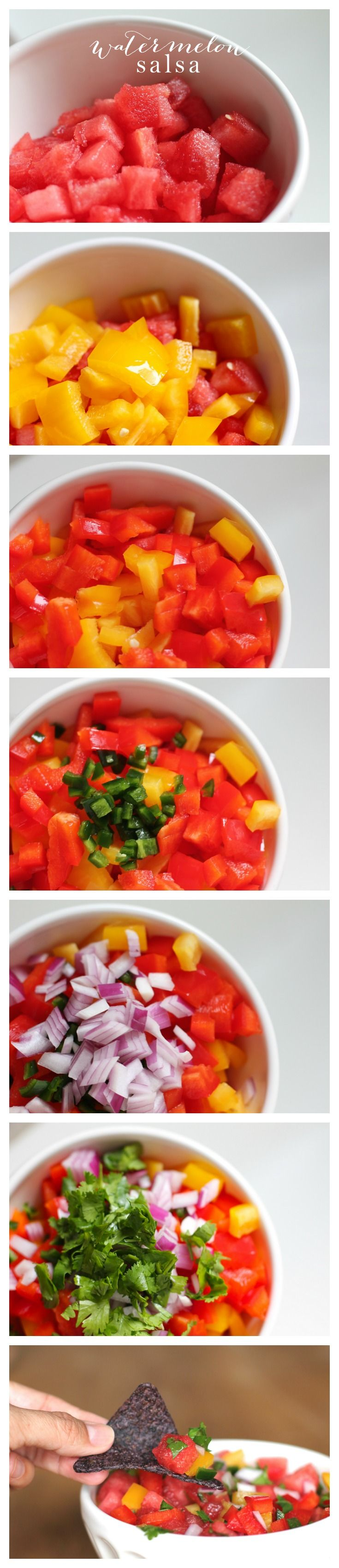 Refreshing & flavorful watermelon salsa recipe. Add it to chicken, salads, tacos & more!