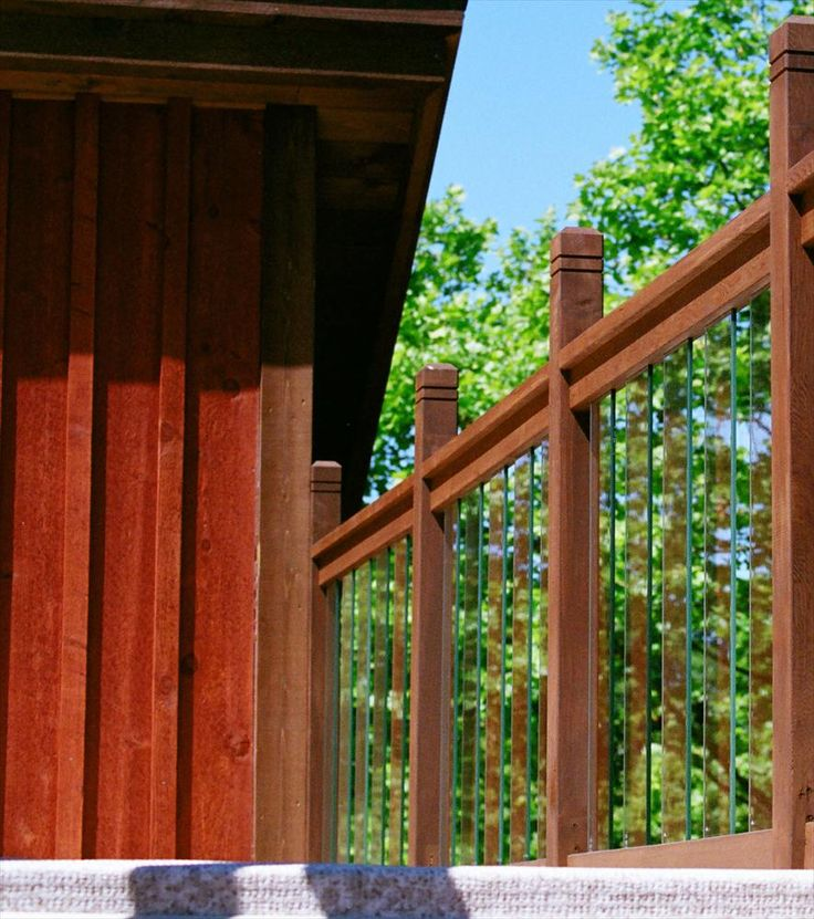 Glass Staircase Balustrade Kit: Cedar & Glass Railing Kits