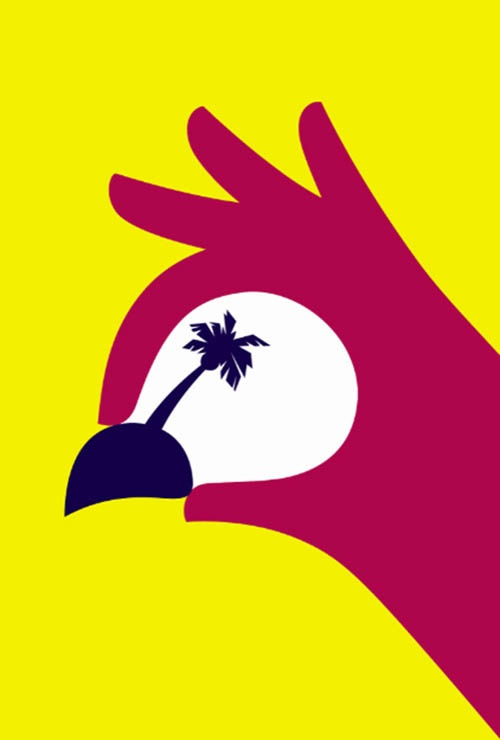 "Noma Bar - Parrot Palm Tree Graphic Design  ""Noma Bar strives for 'maximum communication with minimum elements' winning various industry awards, with his Cut It Out exhibition."""