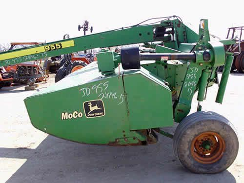 John Deere 955 hay equipment salvaged for used parts. This unit is available at All States Ag Parts in Black Creek, WI. Call 877-530-2010 parts. Unit ID#: EQ-24146. The photo depicts the equipment in the condition it arrived at our salvage yard. Parts shown may or may not still be available. http://www.TractorPartsASAP.com