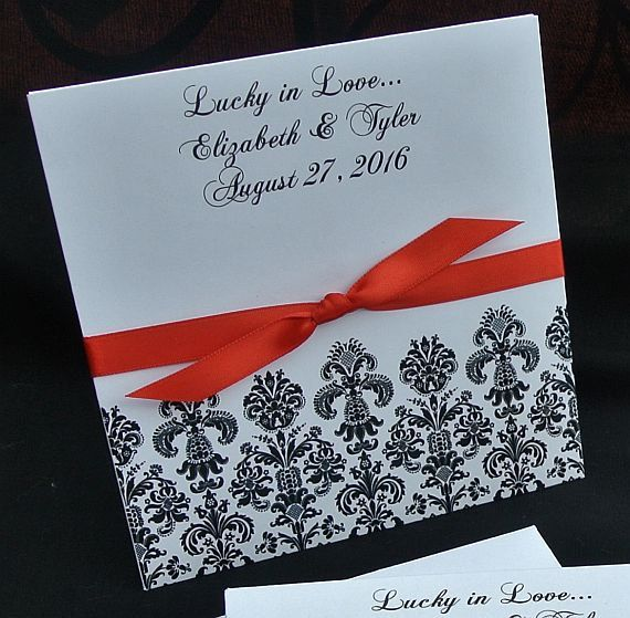 Wedding Favors For A Damask Lottery Ticket Envelopes Personalized By Abbey And Izzie Designs