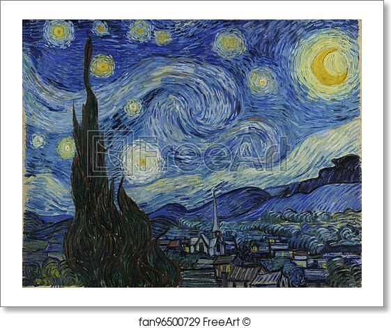 Free art print of The Starry Night by Vincent Van Gogh