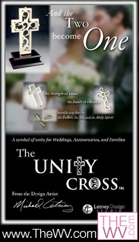Enter to win this unique unity cross for your wedding ceremony from www.TheWV.com. Winner will be selected Feb. 8th, 2012. Wedding Giveaways