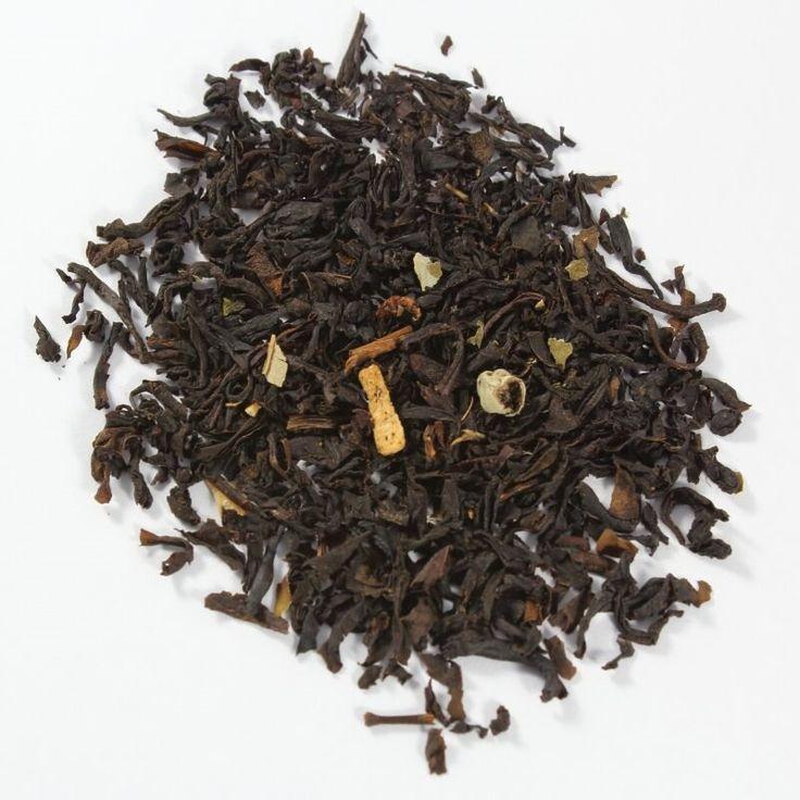 Earl Grey.   Blend de té negro fermentado de India y Sri Lanka, con pétalos azules de aciano y aroma de bergamota.