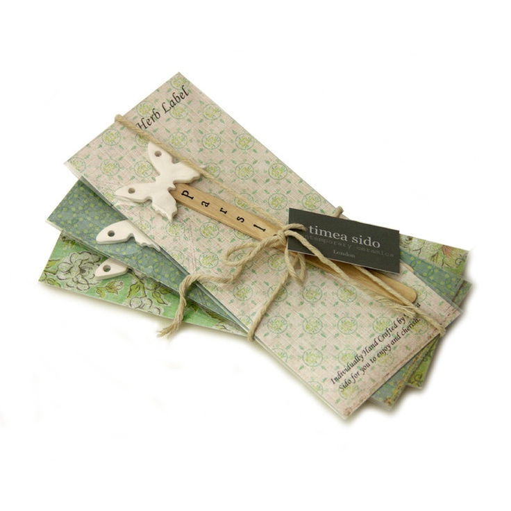 Image of Set of 3 Butterfly Herb Labels