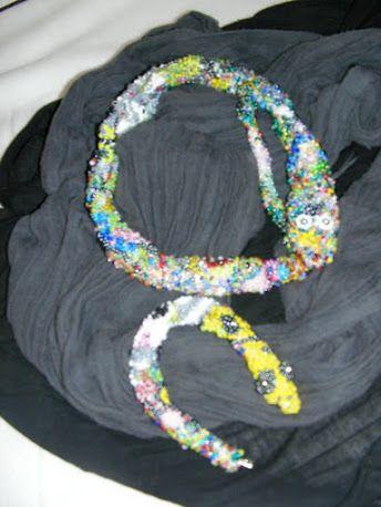 slangen ketting + armband