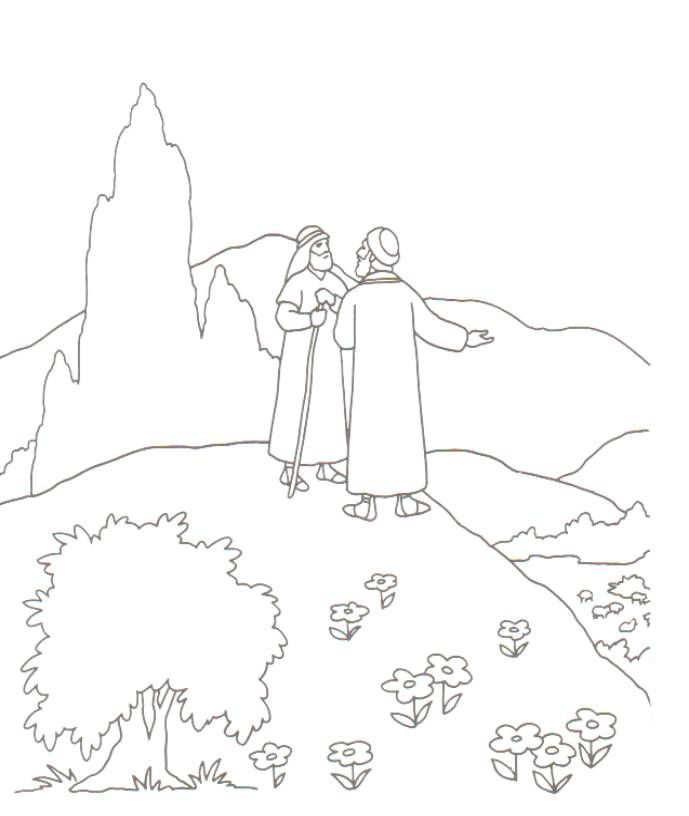 Abraham and Lot Coloring Pages - Abraham and Lot