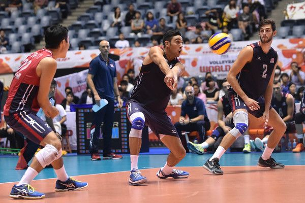 Taylor Sander Photos Photos Usa V Russia Fivb Men S Volleyball World Cup Japan 2015 In 2020 Mens Volleyball Volleyball World Cup
