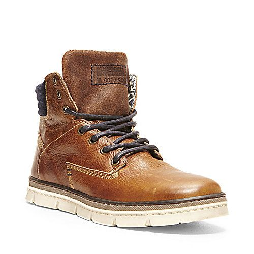 GLANCLOT DARK BROWN men's boot casual oxford - Steve Madden