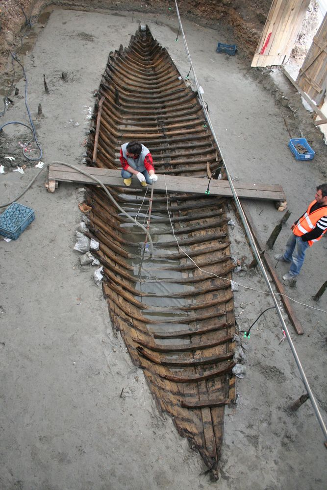 8 Byzantine Empire Era Shipwrecks Excavated in Turkey. Archaeologists from the Istanbul Archaeological Museums excavate shipwreck called YK 14 in April 2007. (Photo courtesy Institute of Nautical Archaeology at Texas A&M University/M. Jones.)