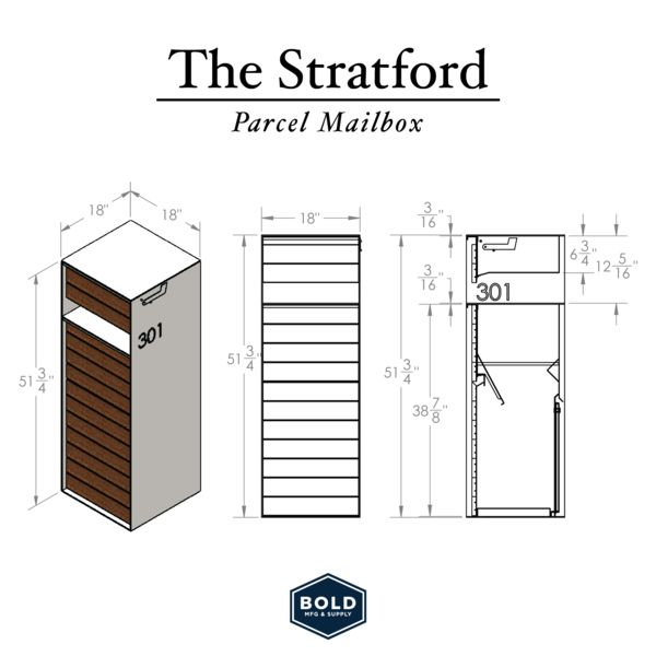 The Stratford Parcel Mailbox