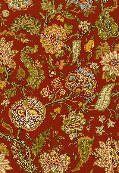 Paprika from the f.s. schumacher archive collection  wallcovering