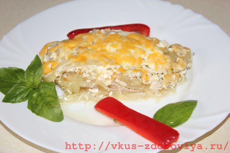 блюдо из куриного филе под йогуртовым соусом с сыром, рецепты с фото