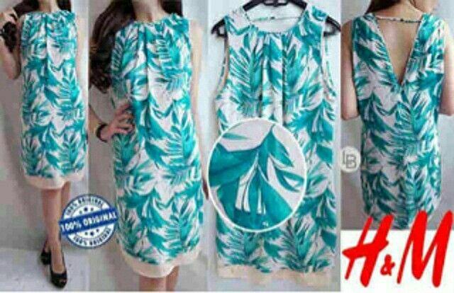 Jual H&M HnM Turkish Palm Dress hanya Rp 99.876, lihat gambar klik https://www.tokopedia.com/mamanya-zati/hm-hnm-turkish-palm-dress   #hnm #turkish #palm #dress #tosca #bajusantai #daster #white