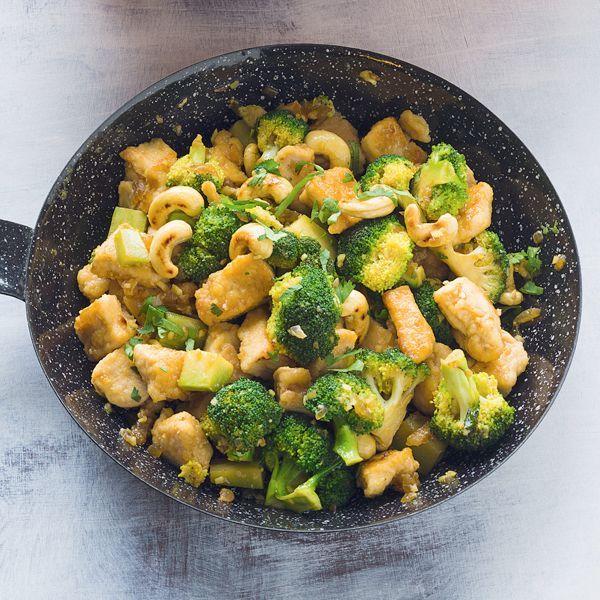 Rezept für Cashew-Brokkoli mit Hähnchen