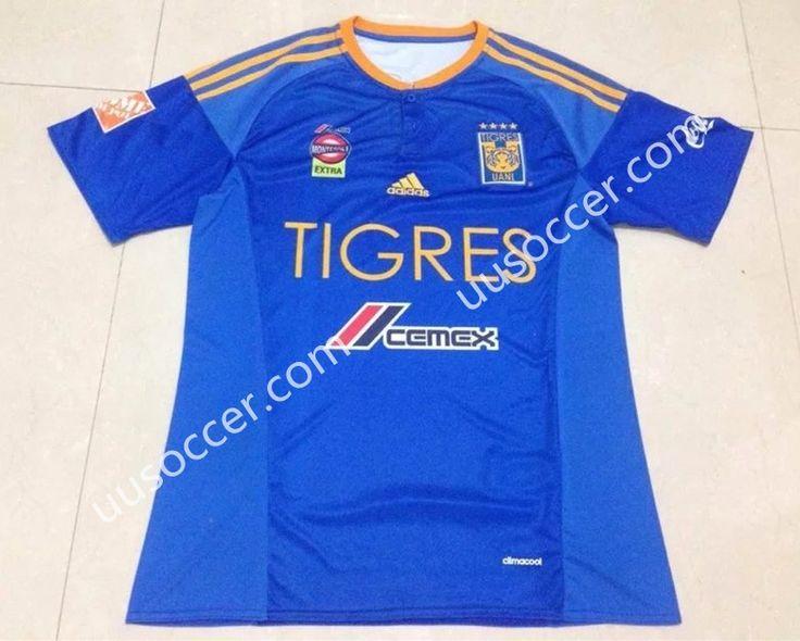 2016-17 Tigres UANL Away Blue Thailand Soccer Jersey AAA