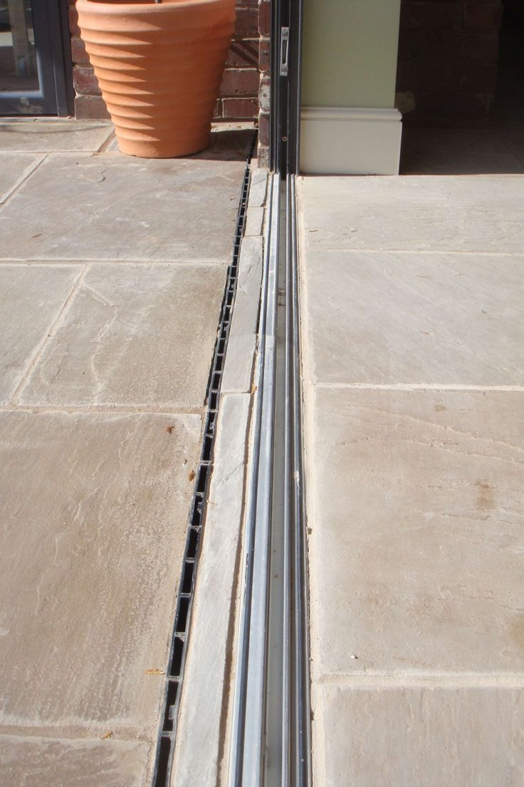 Flush Threshold for Aluminium Bi-Folding Doors