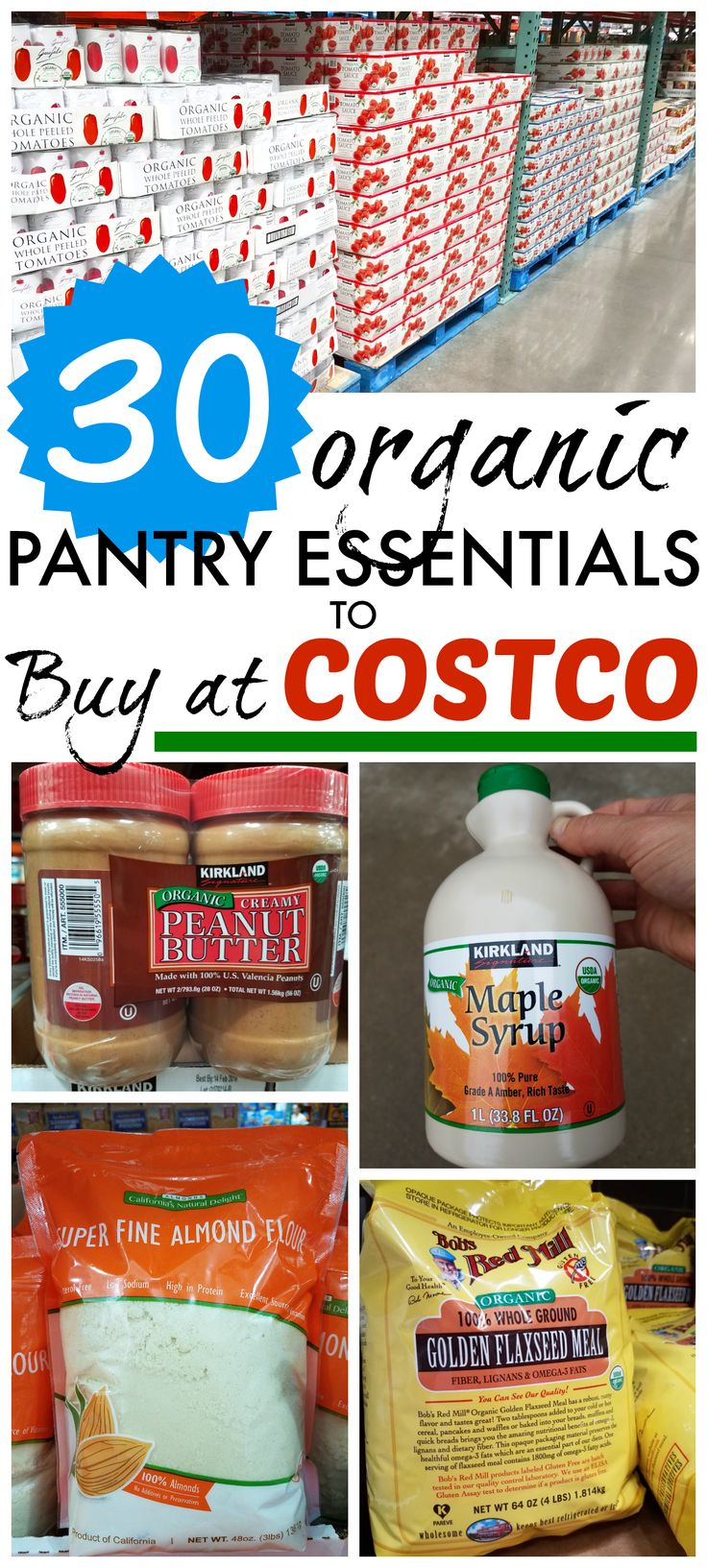 This list of over 30 organic pantry essentials at Costco can help you be prepared to make delicious and nutritious meals without breaking your budget!