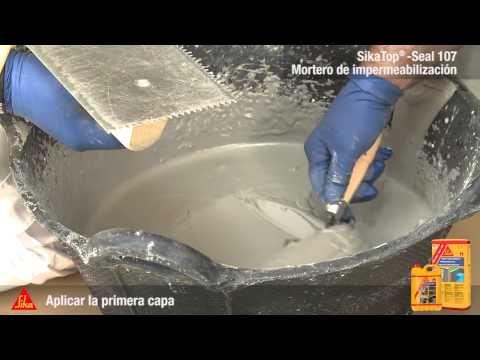 Video sobre la aplicaci n del mortero impermeabilizante - Sikatop seal 107 ...