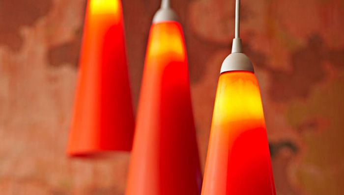Construction Lamps For Boys : Use orange construction road cones for hanging light