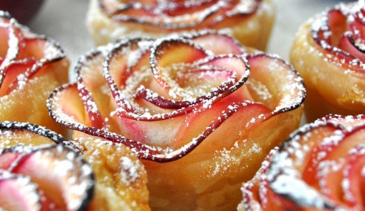 Come fare le ROSE DI MELE con pasta sfoglia, una golosità facile, veloce e bella! ⋆