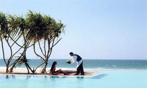 Resort cerca de la playa Ngwesaung, Pathein, Ayeyarwady, Myanmar (Birmania)