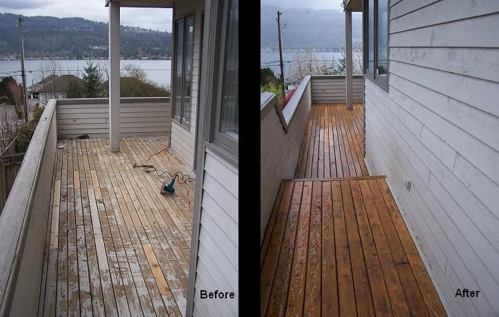 how to clean a cedar deck