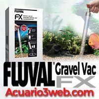 Compatible con el aspirador de gravilla Fluval FX Gravel Vac -   Una de las características más interesantes es la capacidad de conectar el nuevo Fluval FX Gravel Vac, la aspiradora de la grava del sustrato del acuario.