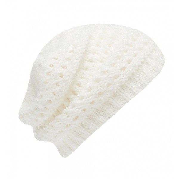 Forever New Hope Fluffy Knitted Beanie ($14) ❤ liked on Polyvore featuring accessories, hats, beanie, hair accessories, porcelain, beanie hats, forever new, cream beanie hat and cream beanie