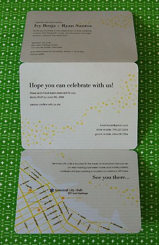 Love the map on the invitation. All of it has a casual laid back feel. Like the tri-fold too.