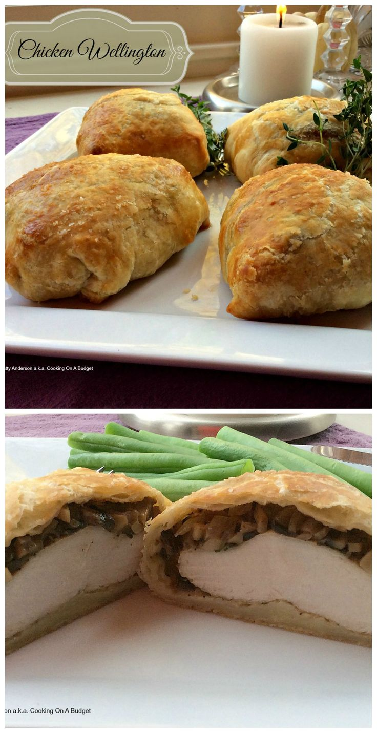 Chicken instead of beef - done like wellingtons - over the top delicious and wonderful for special occasion dinners and for the holidays.