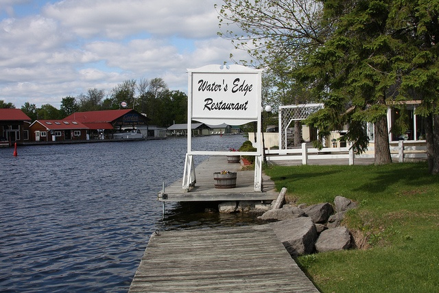 Waters Edge Restaurant - Pigeon Lake...Don't skip dessert here...it is amazing!