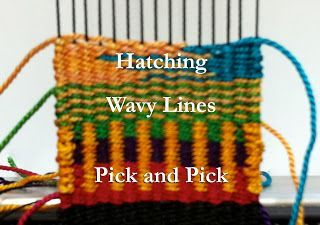 Good Explanation of weaving more complex Techniques (Hatching, Pick & Pick, Wavy Lines)