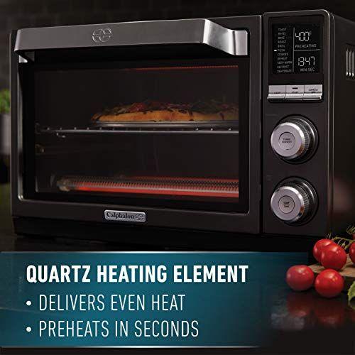 Calphalon Quartz Heat Countertop Toaster Oven Dark Stainless