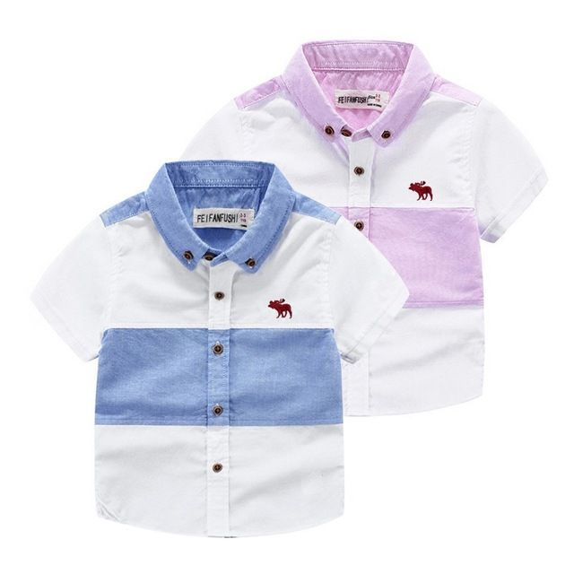 New 2016 Fashion Boys Shirts Kids Cotton Shirt Turn-down Collar Boys Casual Shirt Boys Blouse Chemise Garcon Jongens Hemden