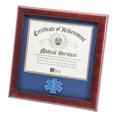 EMS Certificate Frame with Star of Life Medallion