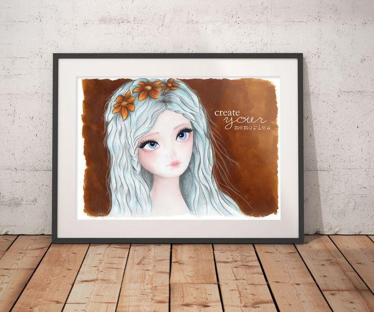 Spring decor, digital art download, Wall Decor, Wall Art, Printable art, Girls room decor, Instant download, teen girl wall decor by DreamBigArtDesign on Etsy