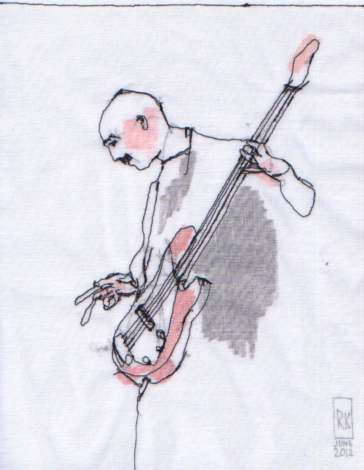 Stitched by Rick: Stitched Portraits: Tony Levin, w/ King Crimson and Peter Gabriel.