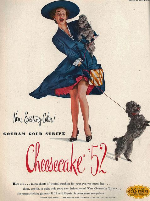 Looks like she's really got her stylish hands full! vintage 1950s ad