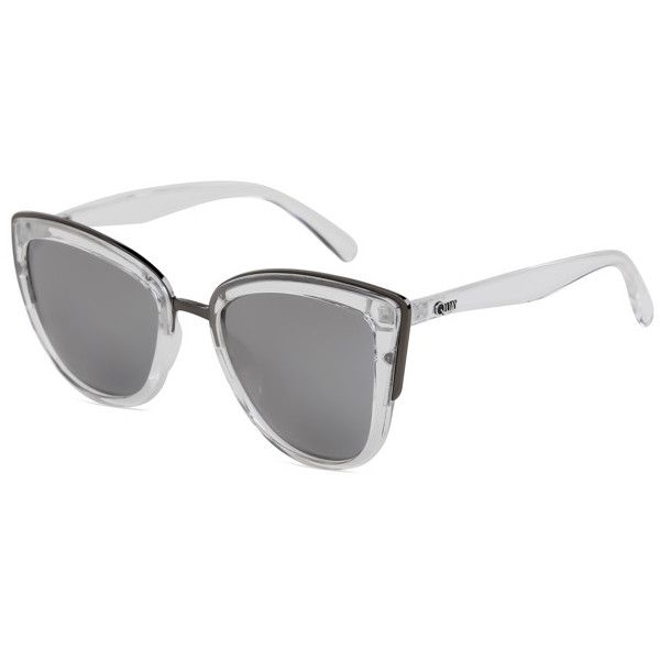 Quay Australia QW-000065 MY GIRL CLR/SLV Sunglasses (170 PEN) ❤ liked on Polyvore featuring accessories, eyewear, sunglasses, clear crystal, cat-eye glasses, quay glasses, cateye sunglasses, mirror glasses and mirrored sunglasses