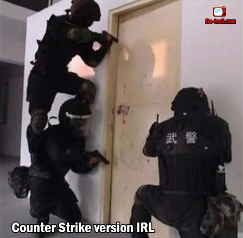 Counter Strike version IRL. #Jeux #Geek
