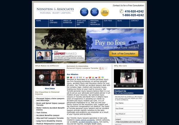 Neinstein & Associates,  1200 Bay Street,  Toronto, ON M5R 2A5 Canada  (416) 920-4242